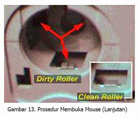 prosedur membuka mouse langkah 3