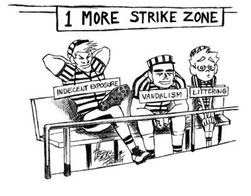comment of three strike law essay This free law essay on the three strikes law and its effects on society is perfect for law two violations of three-strike laws are a form of the habitual.