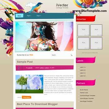 i Vector Blogger Template. art design blogger template. image slidesow blogger template