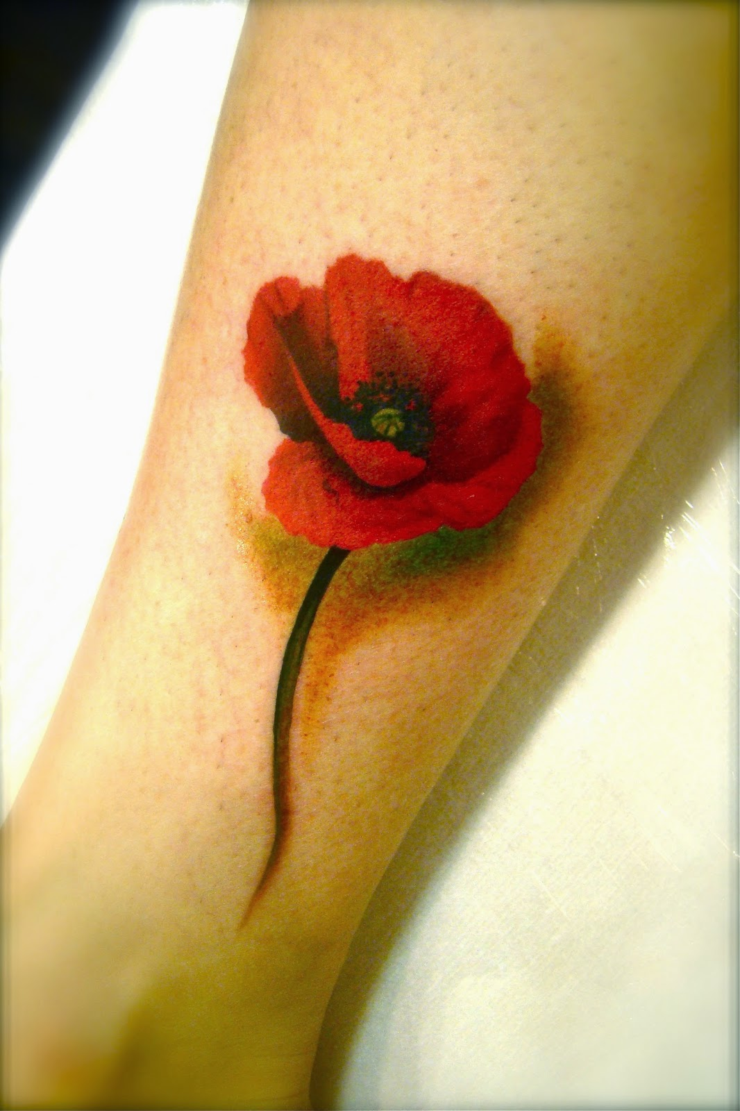 Poppy Tattoo Design