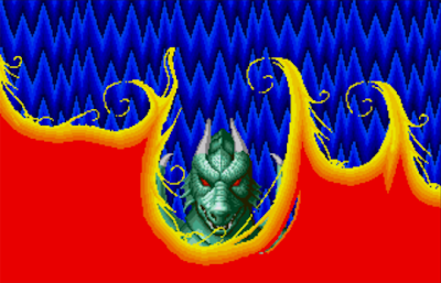 La transformation en dragon-garou dans Altered beast sur Megadrive