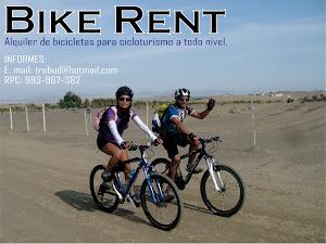 Alquiler de bicicletas en Lima, Perú.