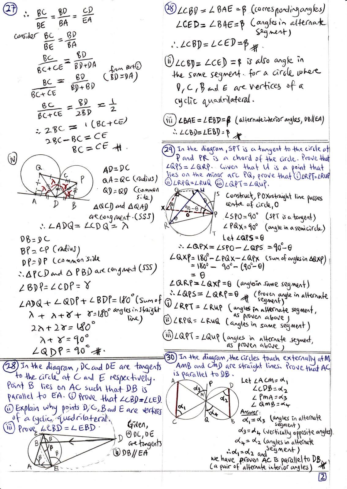 Tangent geometry homework help