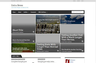 ExtraNews Responsive Blogger Template