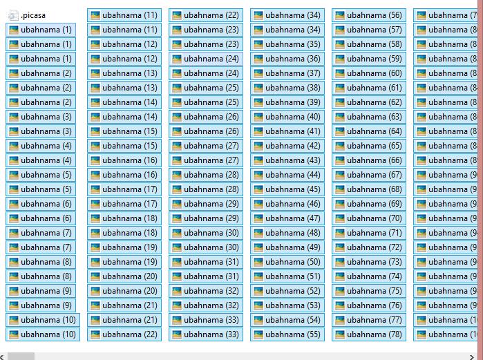 Cara Merubah Nama Banyak File Sekaligus