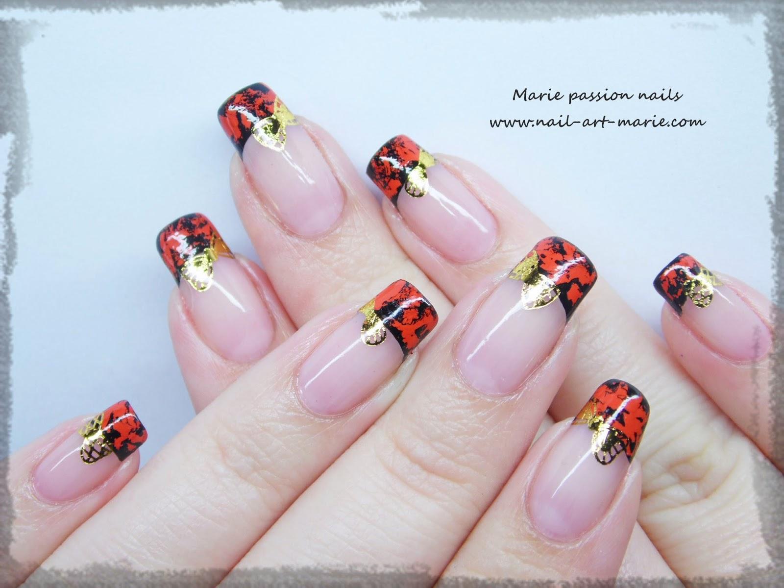 Nail Art avec craquelures de foils matte2