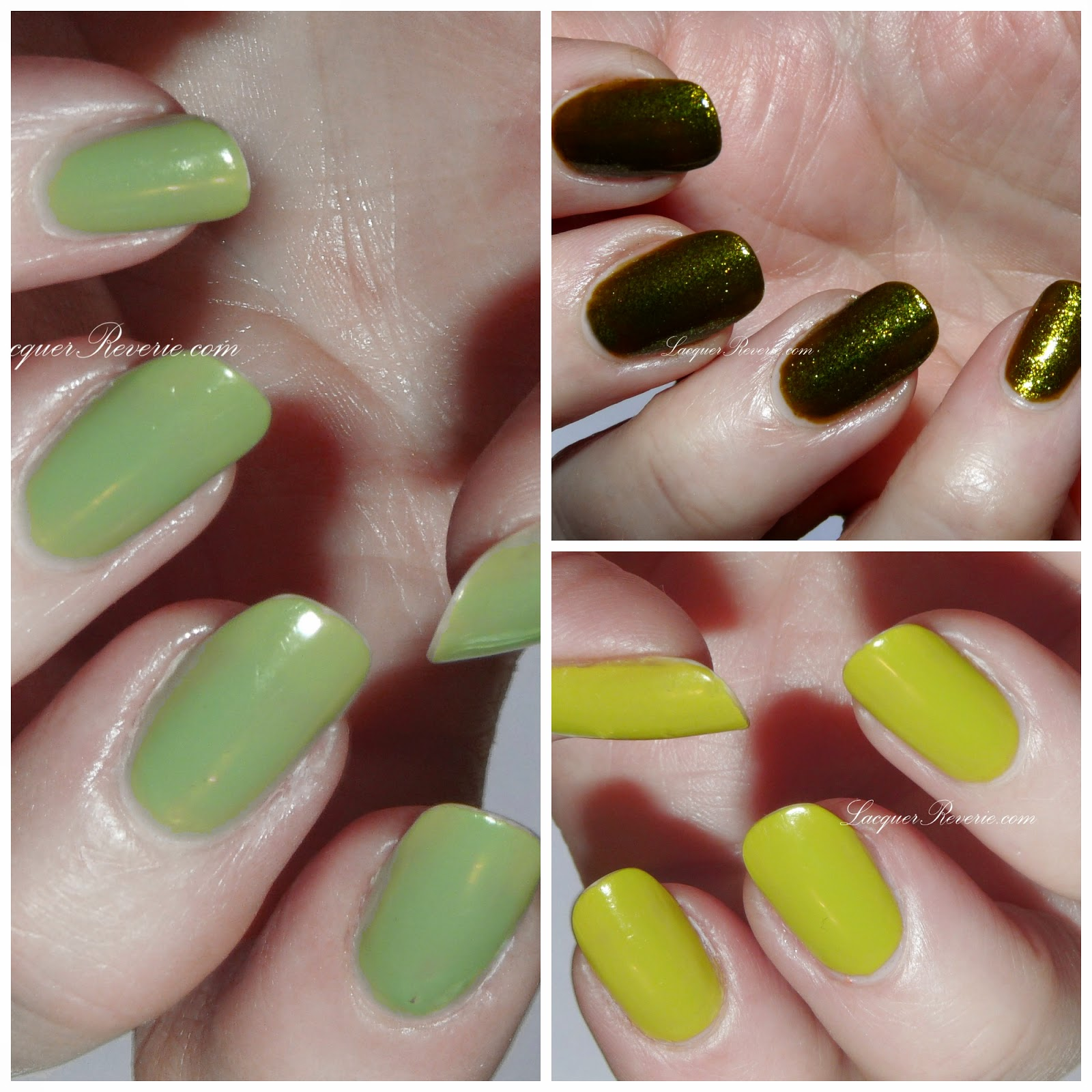 Lacquer Reverie: A Disturbing Green Post: Nicole by OPI and Orly