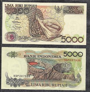 Pecahan 5000 Rupiah emisi 1992