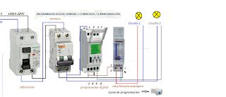 Programador digital y reloj horario esquemas el ctricos for Programador electrico digital
