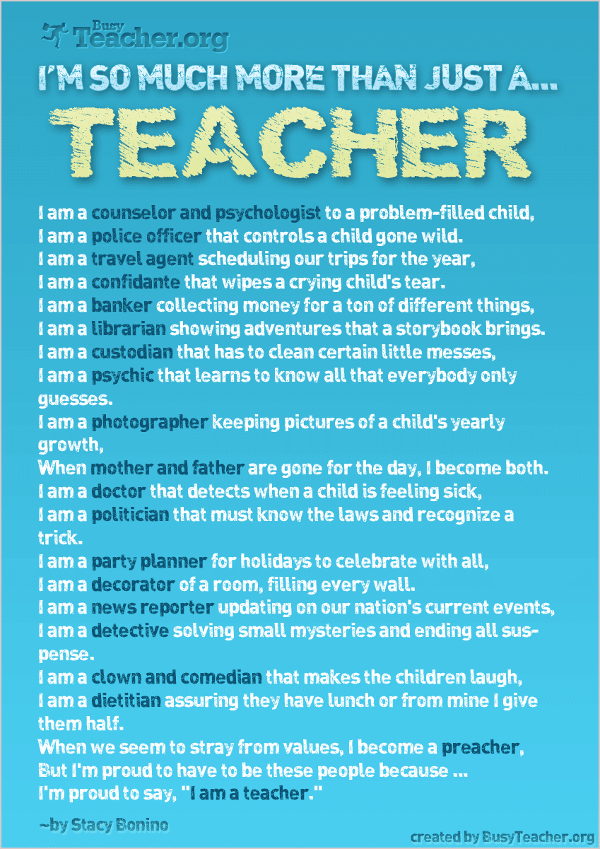 positive things about being a teacher