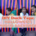 DIY Duck Tape Halloween Photo Backdrop