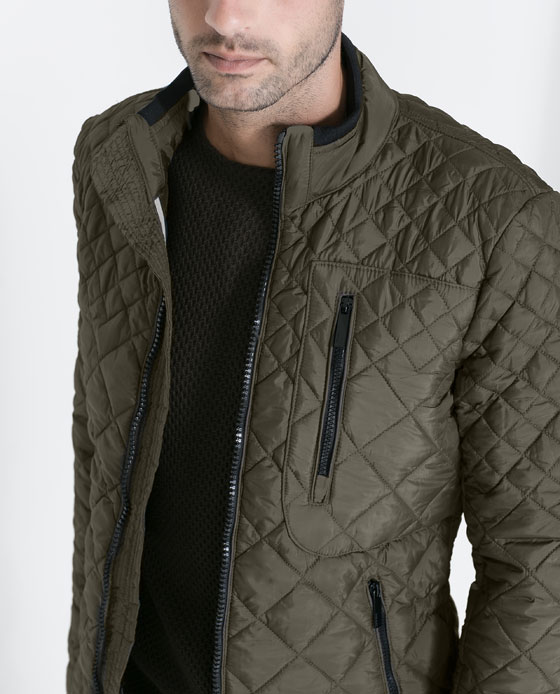 Cultures hommes vestes matelass e for Veste carreaux homme zara