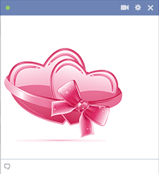 Pretty Pink Hearts for Facebook