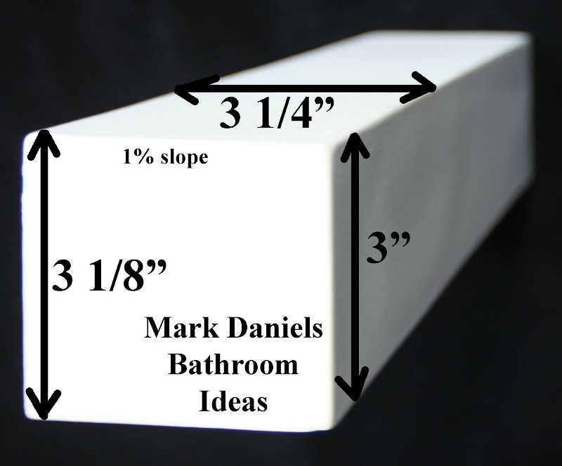 square box 3 x3 x 12 box design a modern feel for your bathtub or  title=