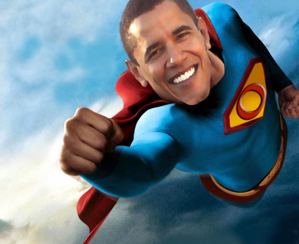 Obama as Superman