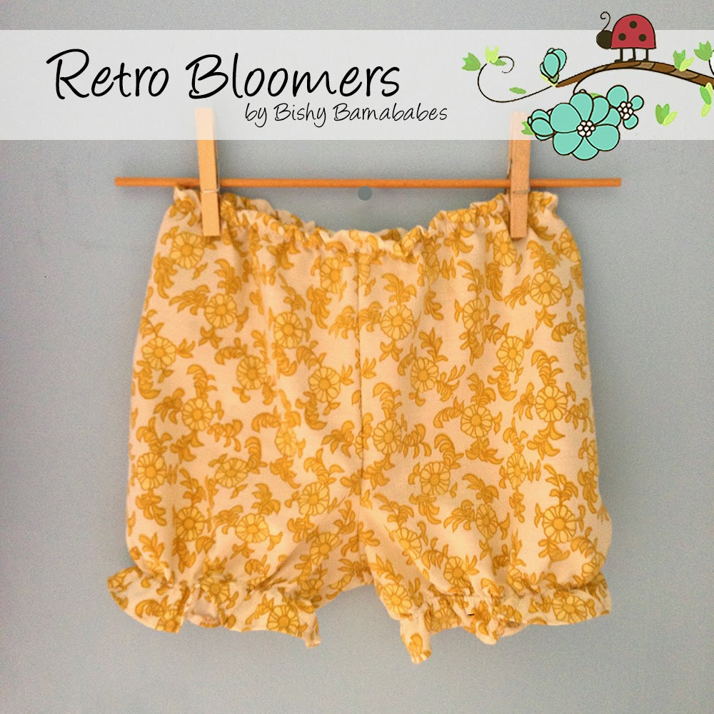 Retro Bloomers custom made with vintage fabric by Bishy Barnababes - Vicki Hibbins