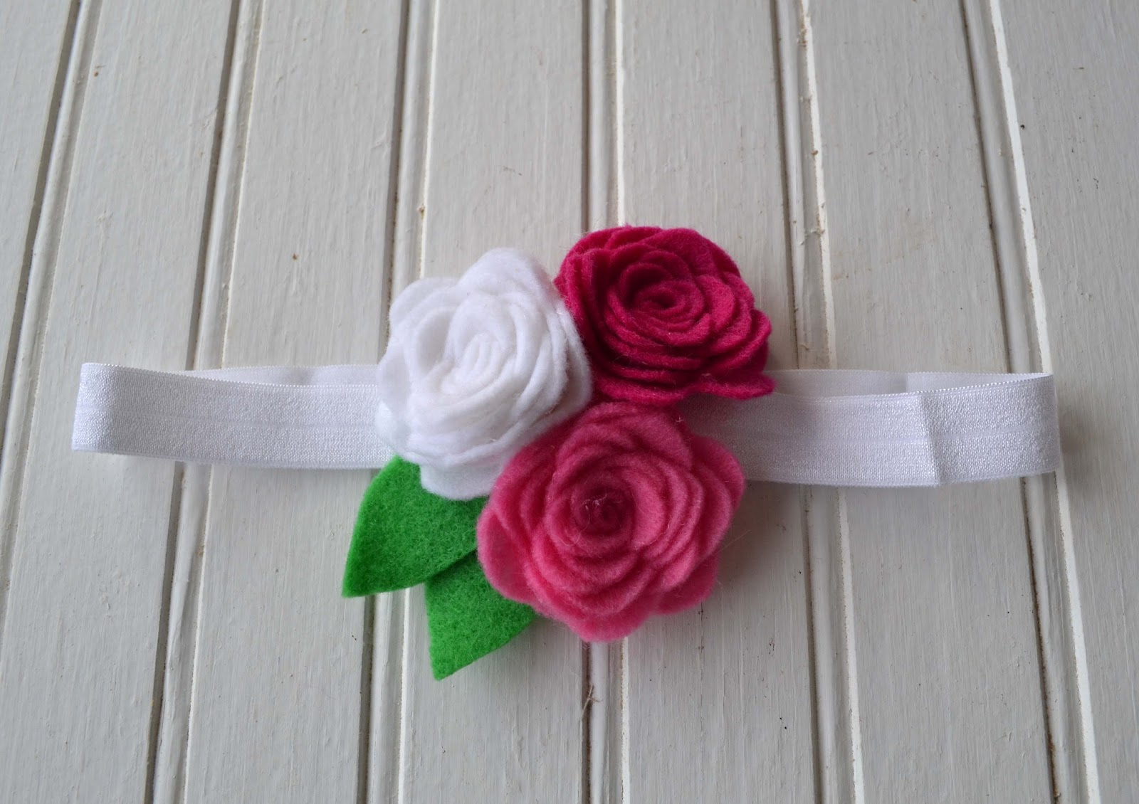 Pink Rose Trio Headband