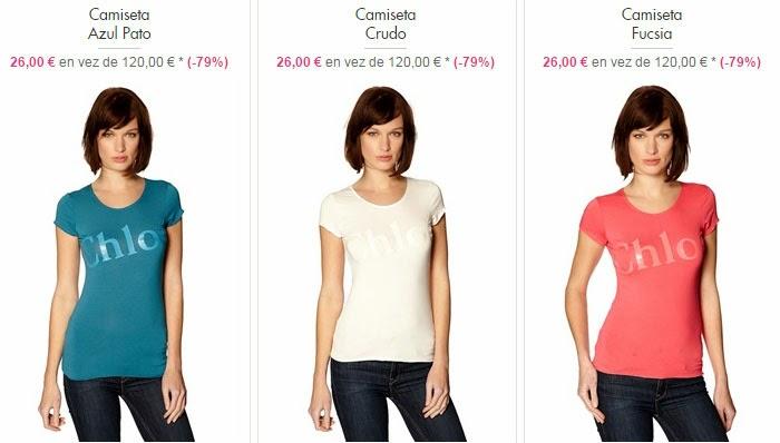 Camisetas de manga corta de Chloé para mujer
