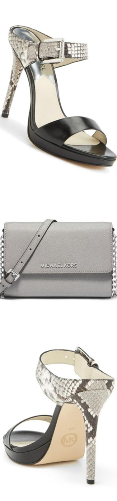 MICHAEL Michael Kors 'Beverly' Leather Mule Sandal