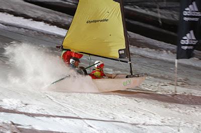 Optimist sur neige pour le Trophée Mer Montagne !
