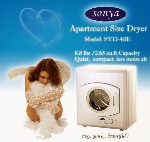 sonya portable compact small laundry dryer apartment size