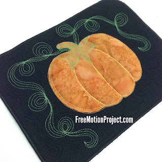 quilt pumpkin block | machine quilting