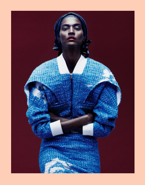 Liya Kebede by Daniel Jackson for Prabal Gurung SS14