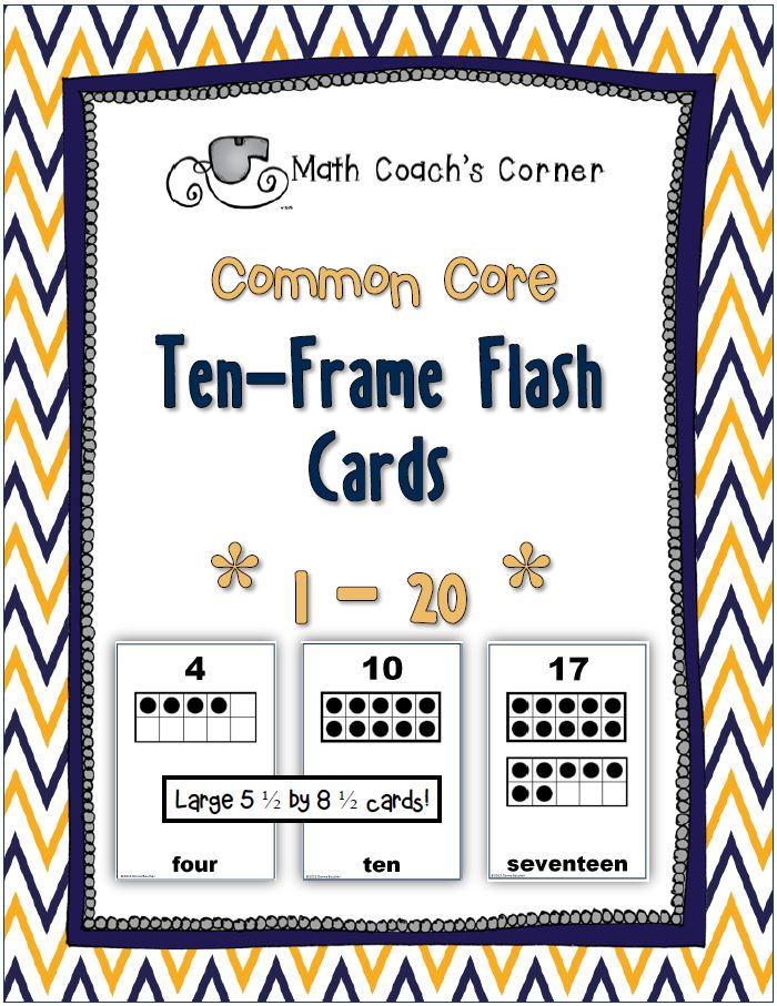 five frame cards ten frame representation