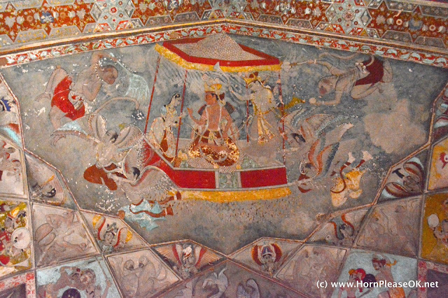 Bundi Palace ceing fresco