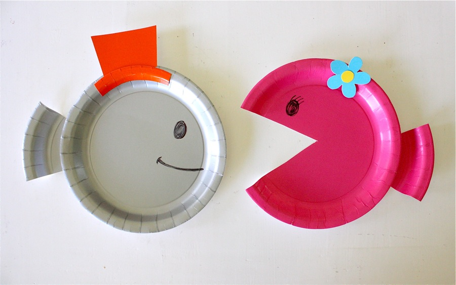 Paper plate fish made everyday maxwellsz