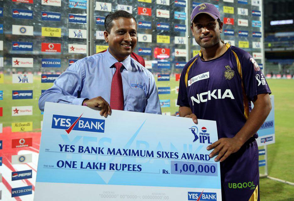 Debabrata-Das-Maximum-Sixes-MI-vs-KKR-IPL-2013