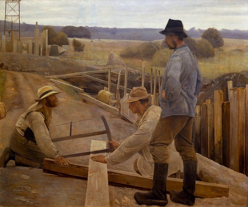 arbejdere på bro
