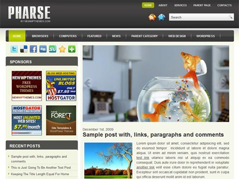 Pharse Free WordPress Theme