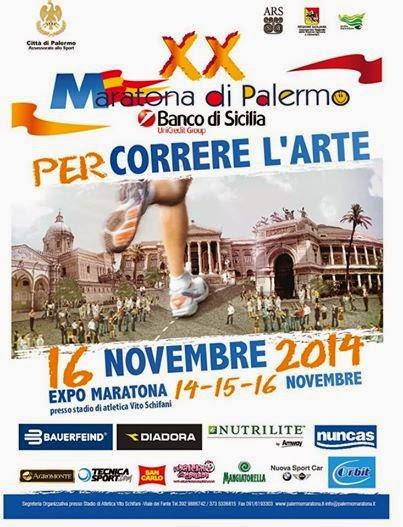XX Maratona di Palermo 16 novembre 2014