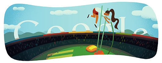 Google Doodles - Olympic Pole Vault 2012