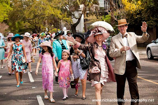 Photo of the Hat Ladies Easter Promenade in Charleston South Carolina