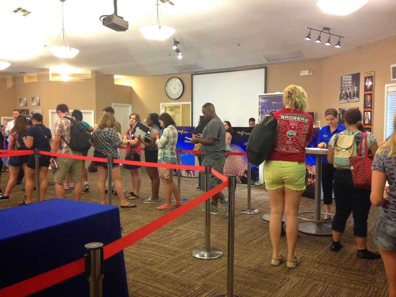 Maddi Higgins Disney College Program Check In Day