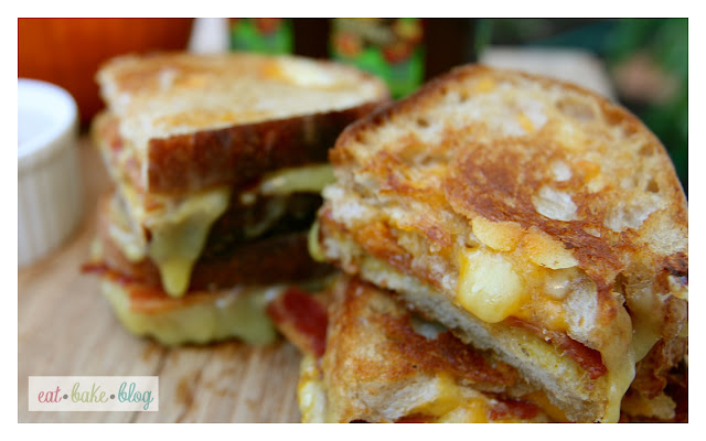 grilled cheese pumpkin mustard bacon