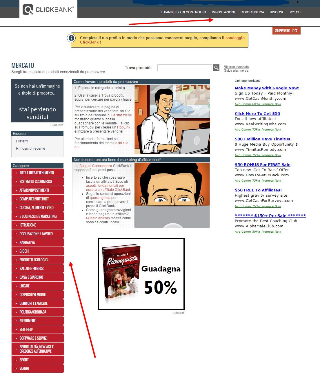 Programma di affiliazione con Clickbank