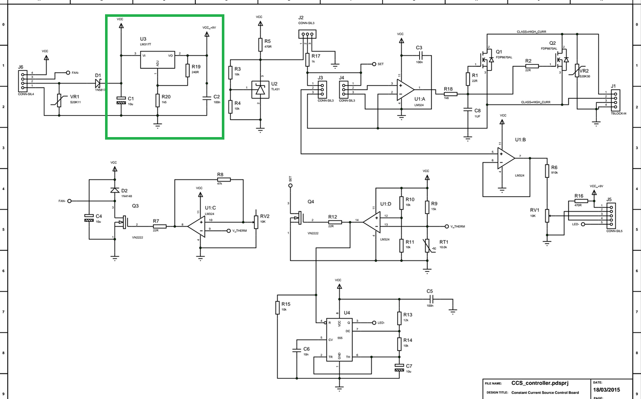 Trons Workshop Current Source Update With Lm317 Rev02 Of Schematic 9v Reg From Highlighted In Green