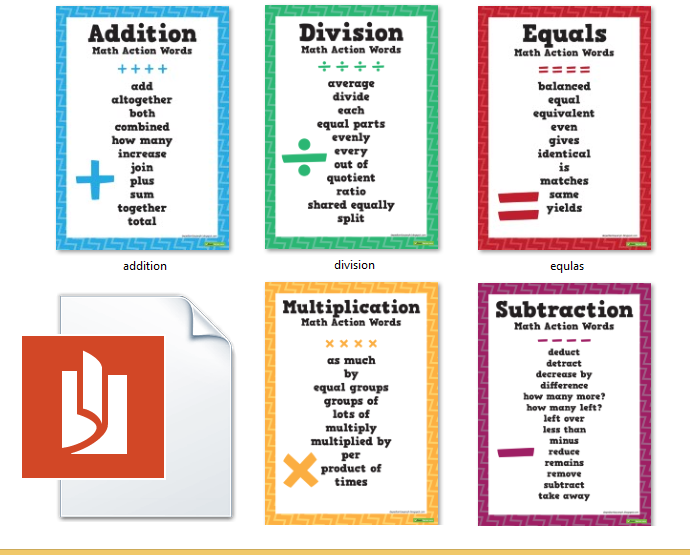 Printables Addition Words math words for multiplication scalien action poster deped tambayan ph