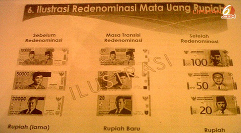 Sekilas Tentang Redenominasi Rupiah