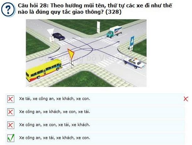 học thi lý thuyết lái xe b2