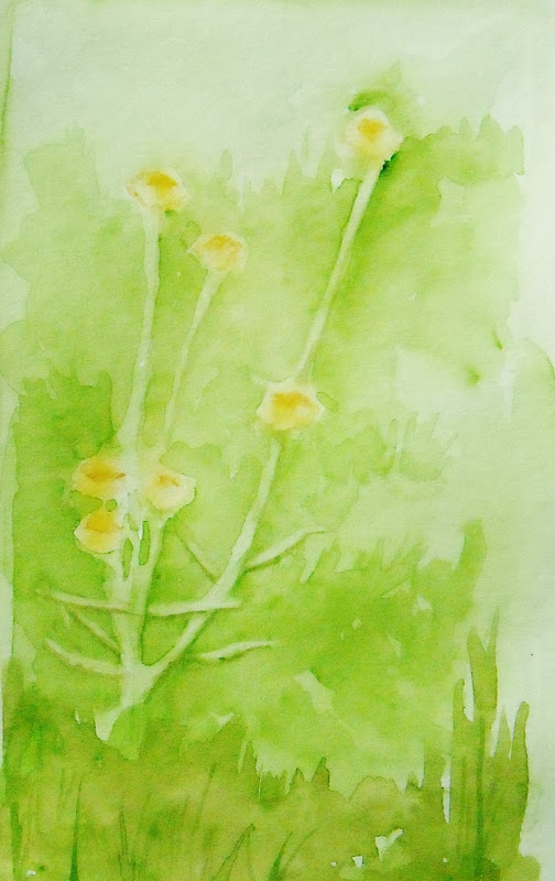 Watercolor Painting of Wildflowers title=