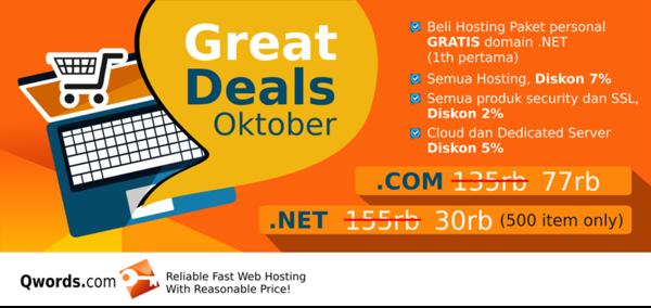 Promo Domain Murah Qwords di Bulan Oktober 2015