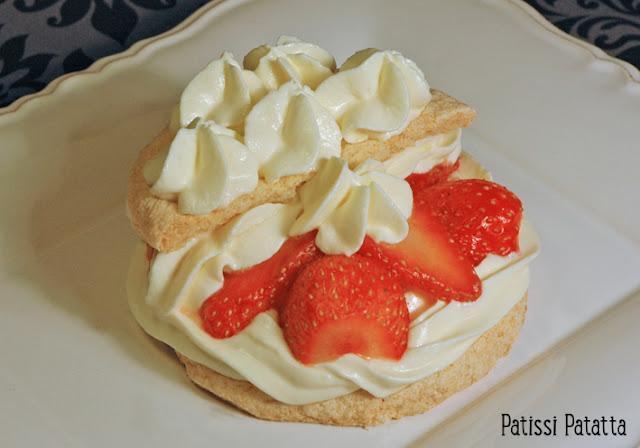 recette de fraisier, mini fraisier, mini gâteau aux fraises, quel dessert réalisé avec des fraises, crème mascarpone