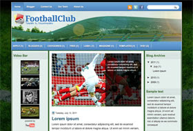 Football Club Blogger Template