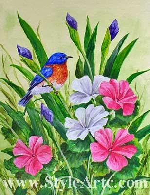 acrylic bird art