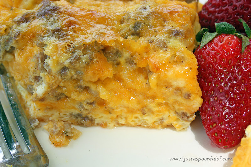 Just a Spoonful of: Cheesy Sausage Breakfast Casserole