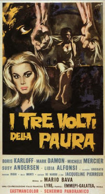 Danger: Diabolik, Diabolik, Danger, Mario Bava, 1963, Les trois visages de la peur, Black Sabbath, The three faces of fear, I tree volti della paura, Boris Karloff, Michèle Mercier, poster, affiche, test, critique, avis